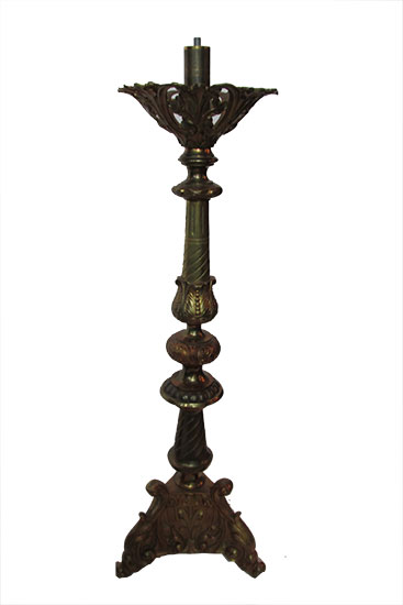 Pair Bronze Candlebra