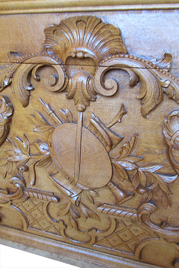 Large Carved Oak Panel