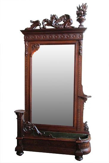 Walnut Hall Mirror