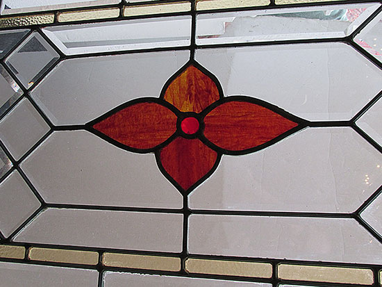 Beveled/Stained Glass Transom