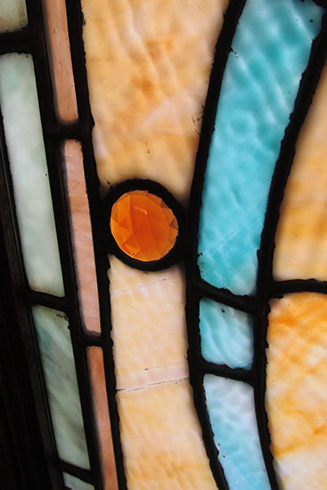 Tall Stained Glass Window