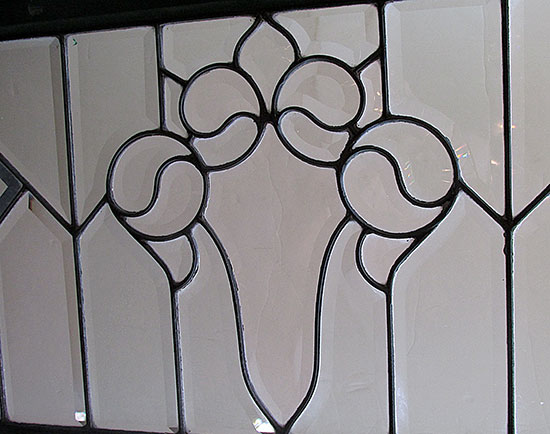 Clear Beveled Transom