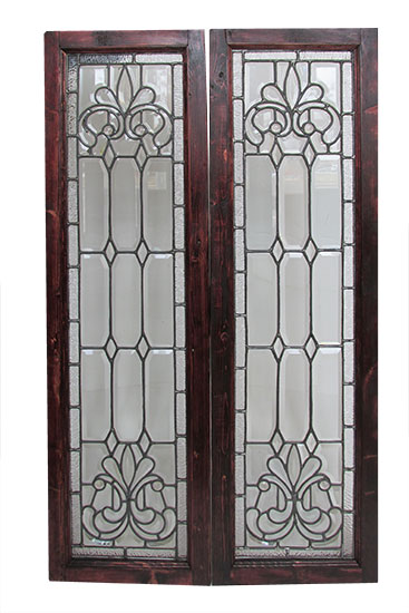 Pair of Beveled Sidelights