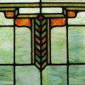 Large Green Arts & Crafts Window