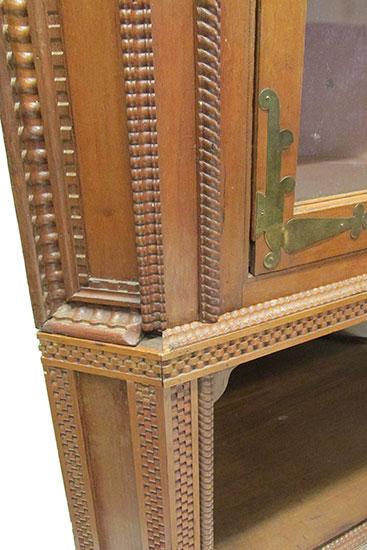 Carved Corner Cabinet