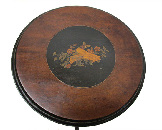 Inlaid Renaissance Stand, with Gold Incised Base