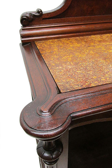 Marble Top Music Cabinet