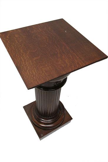 Large Oak Pedestal