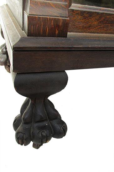 Carved Oak China Cabinet