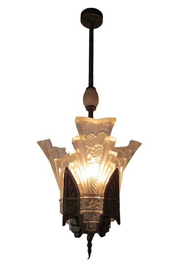 Art Deco Slip Shade Light