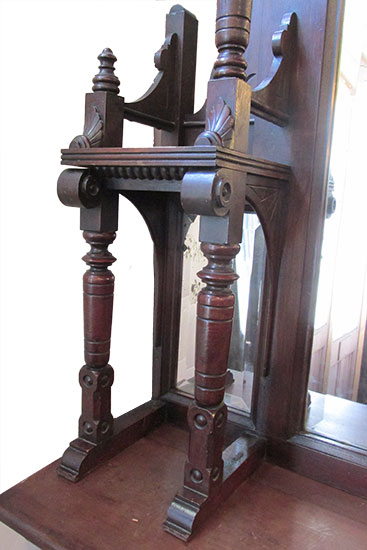 Victorian Full Mantel, with Beveled Mirrors