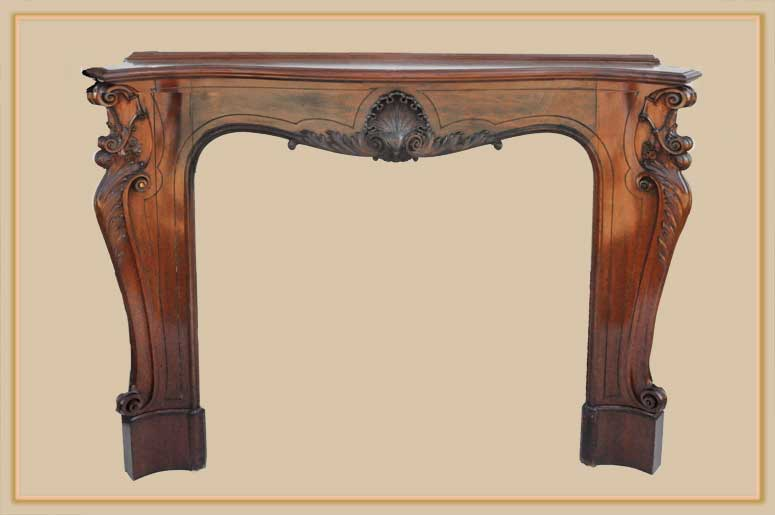 Fabulous French Half Mantel, with Scrolls & Crest