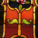 Pair of Small Stained Glass Windows