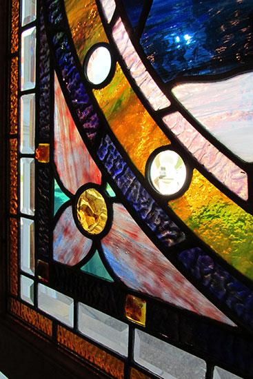 "Stained Glass ""Owl"" Window"