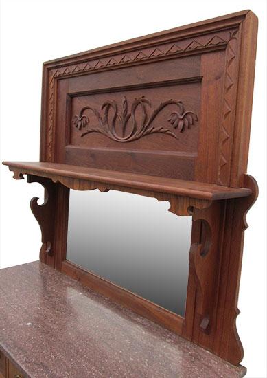 Walnut Marble Top Sideboard