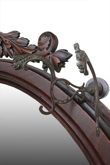 Ornate Carved Hall Tree Bench