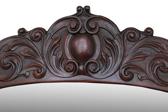 Carved Hall Tree Bench