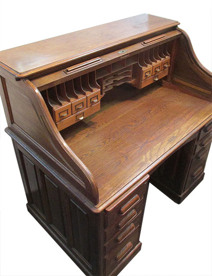 Oak Roll Top Desk