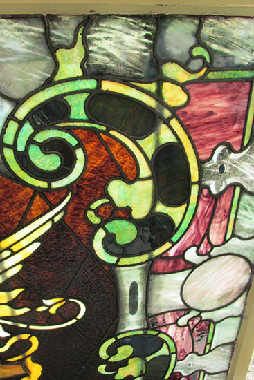 Griffin Stained Glass Window