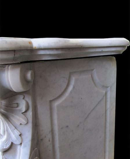 White French Louis XVI Marble Mantel