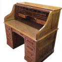 Oak Roll Top Desk With Chair