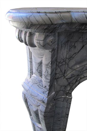 Grey French Louis XVI Marble Mantel