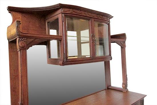 Oak Curio Sideboard