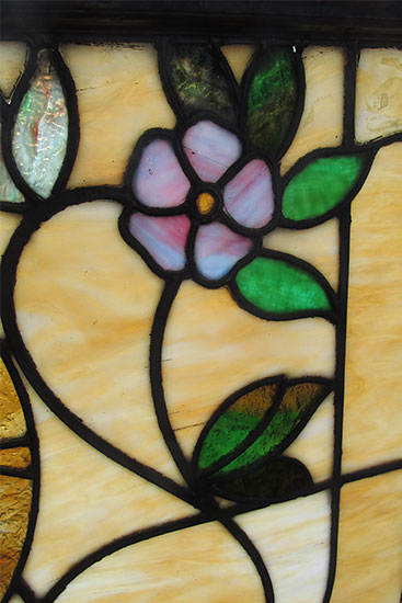 Stained Glass Window With Scene