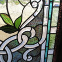 Stained Glass Window With Flowers