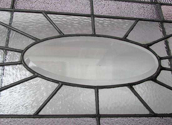 Beveled Transom Window