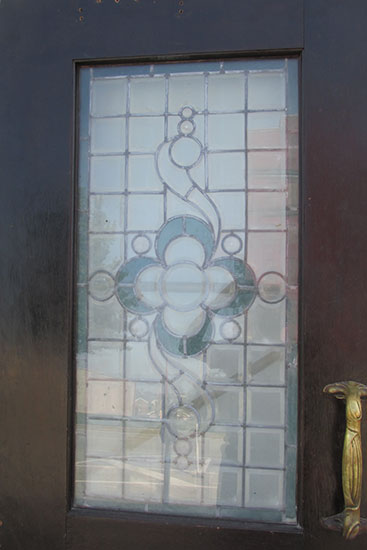 Leaded Glass Door
