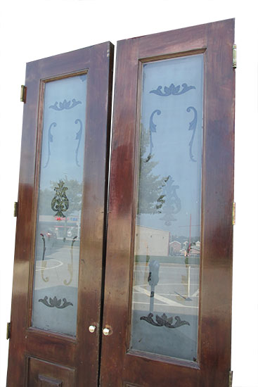 Etched Glass Doors