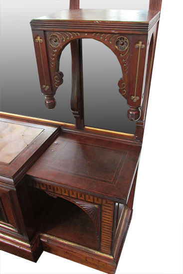 Inlaid Marquetry Hall Mirror