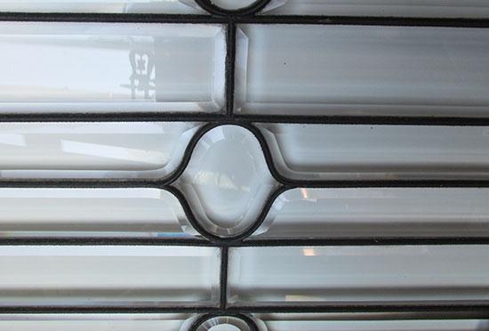 Beveled Glass Transom