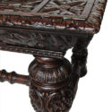Carved Library Table