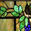 Stained Glass Window with Grapevine Detail