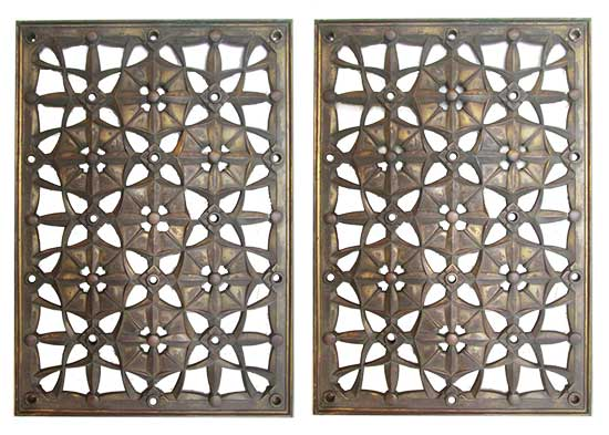 Pair of Bronze Panels