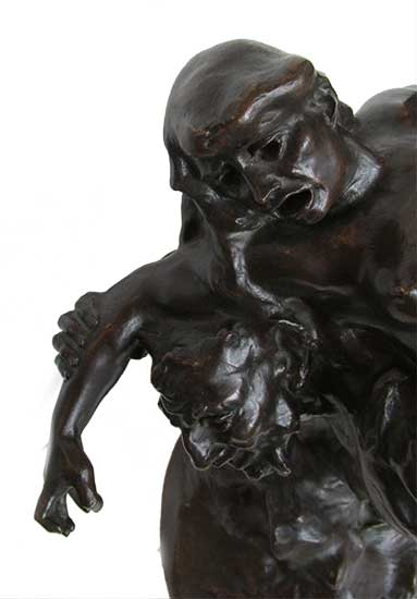 Historical Bronze Sculpture of Lady Carried by Satyr