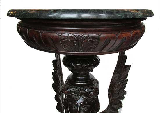 Winged Mahogany Pedestal