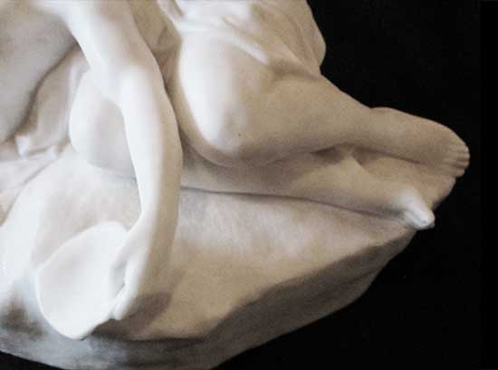 White Marble Sculpture of Young Couple