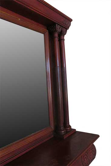 Cherry Full Mantel, with Metal Fireplace Frame & Tile Set
