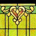 Stained Glass Window with Lilies Detail