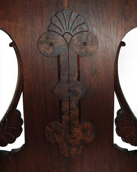 Walnut Hall Tree, with Mirror & Marble Shelf