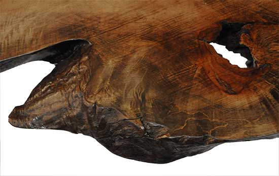 """Industrial """"Live Edge"""" Table"""