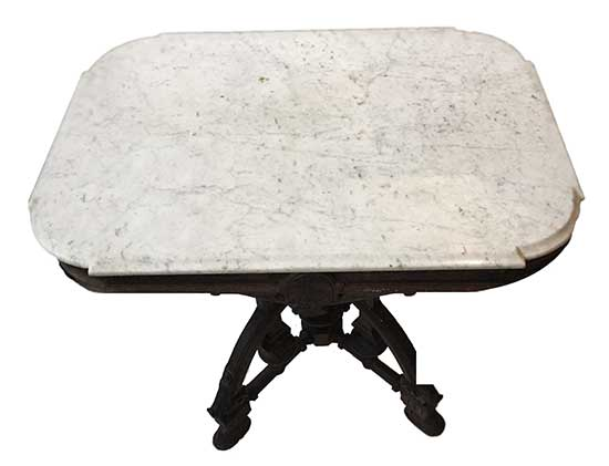 Marble Top Table, with Cherry Base