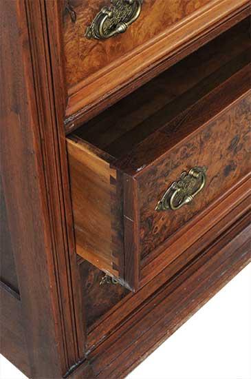 Walnut Burl Eastlake Dresser