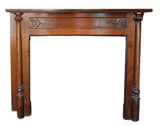 Half Mantel, with Curved Shelf