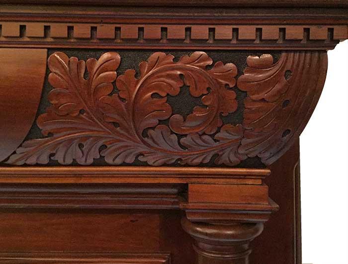 Nicely Carved Half Mantel