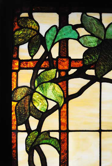 Stained Glass Window, with Vines