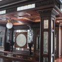 Deluxe, 16-Foot Mahogany Canopy Pub Bar